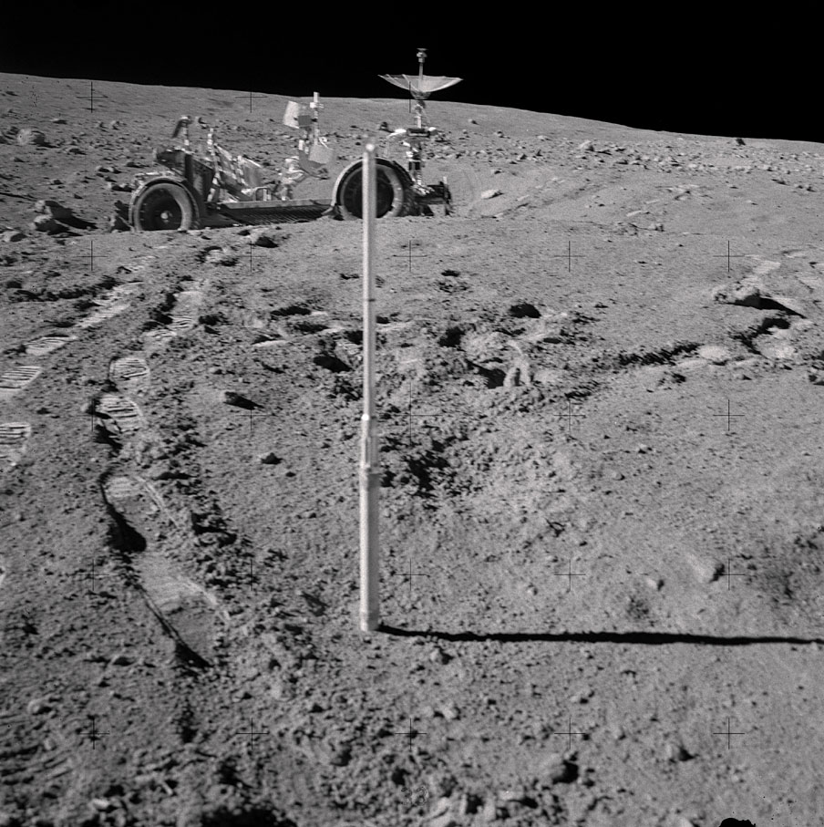 a tool used on the moon - space artifacts