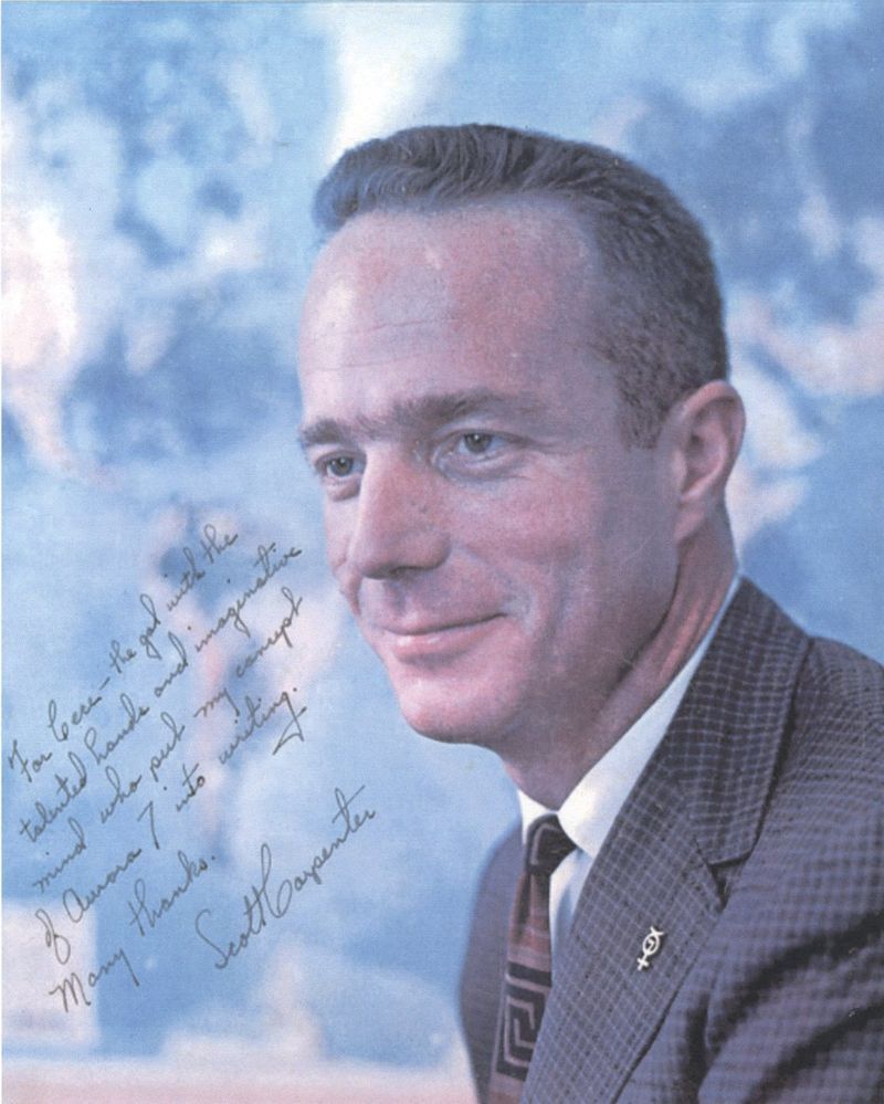 Scott Carpenter inscription photo