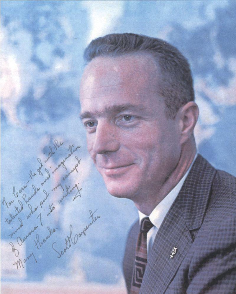 Scott Carpenter inscription photo