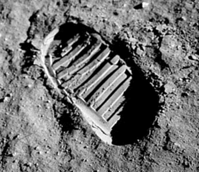 A11 lunar bootprint