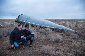 Soyuz booster on the Steppes