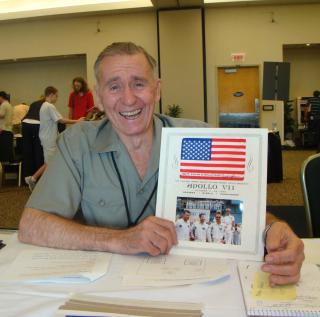 Walt with A7 flag