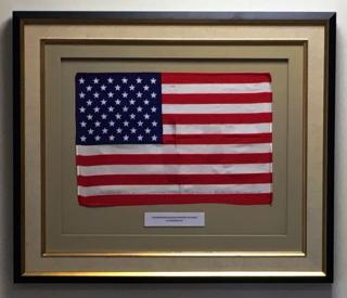 A15 US Flag framed close up